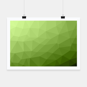 Thumbnail image of Greenery ombre gradient geometric mesh Poster, Live Heroes
