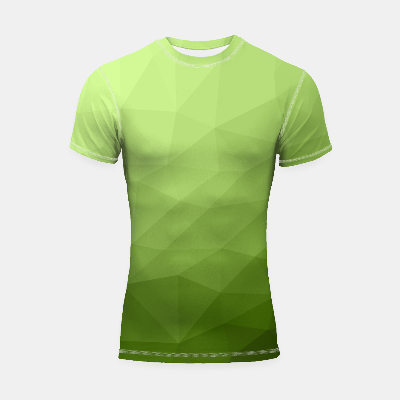 Image of Greenery ombre gradient geometric mesh Shortsleeve Rashguard - Live Heroes