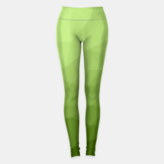 Greenery ombre gradient geometric mesh Leggings thumbnail image