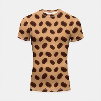 Thumbnail image of Cool Brown Coffee beans pattern Shortsleeve Rashguard, Live Heroes