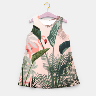 Miniatur Looking for Paradise Girl's Summer Dress, Live Heroes