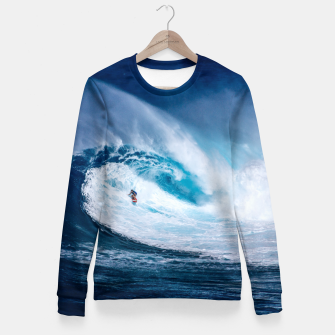 Miniatur surfing Fitted Waist Sweater, Live Heroes