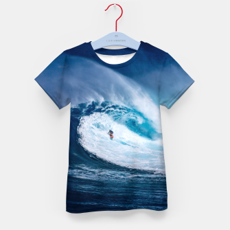 Miniatur surfing Kid's T-shirt, Live Heroes