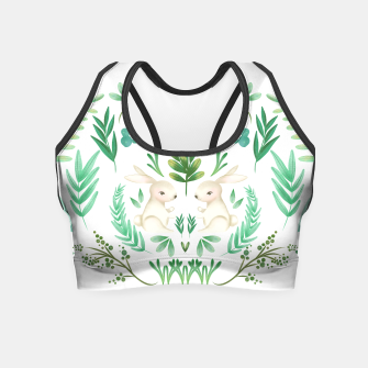Miniaturka Woodland Rabbits Crop Top, Live Heroes