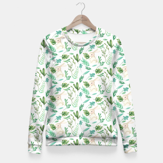 Miniatur Forest Rabbit Fitted Waist Sweater, Live Heroes