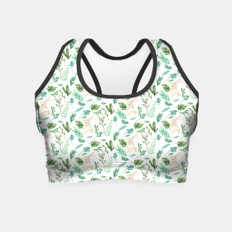 Miniaturka Forest Rabbit Crop Top, Live Heroes