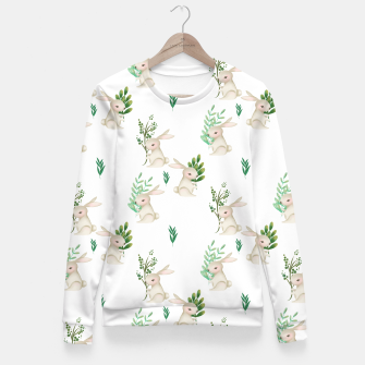 Miniatur Playful Rabbits Fitted Waist Sweater, Live Heroes