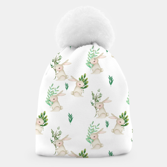 Thumbnail image of Playful Rabbits Beanie, Live Heroes