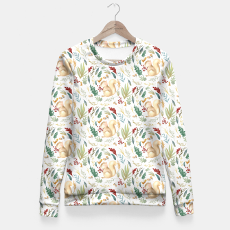 Miniatur Woodland Squirrels  Fitted Waist Sweater, Live Heroes