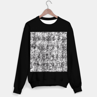 Miniatur psychedelic abstract art texture in black and white Sweater regular, Live Heroes