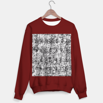 Thumbnail image of psychedelic abstract art texture in black and white Sweater regular, Live Heroes