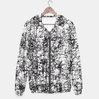 Thumbnail image of psychedelic abstract art texture in black and white Hoodie, Live Heroes