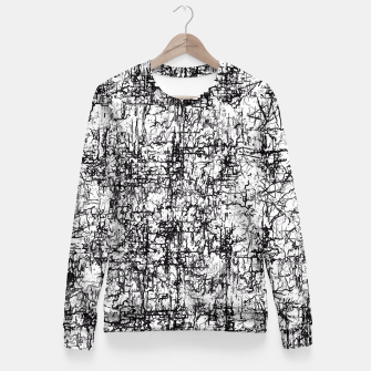 Miniatur psychedelic abstract art texture in black and white Fitted Waist Sweater, Live Heroes