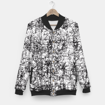 Thumbnail image of psychedelic abstract art texture in black and white Baseball Jacket, Live Heroes