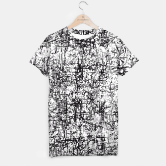 Miniatur psychedelic abstract art texture in black and white T-shirt, Live Heroes