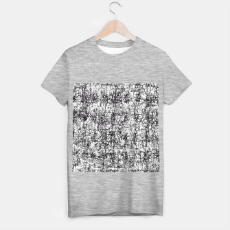 Miniatur psychedelic abstract art texture in black and white T-shirt regular, Live Heroes