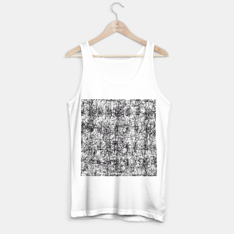 Thumbnail image of psychedelic abstract art texture in black and white Tank Top regular, Live Heroes