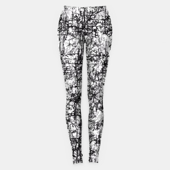 Miniatur psychedelic abstract art texture in black and white Leggings, Live Heroes