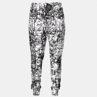 Thumbnail image of psychedelic abstract art texture in black and white Sweatpants, Live Heroes