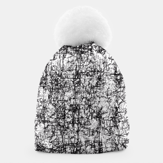 Miniatur psychedelic abstract art texture in black and white Beanie, Live Heroes