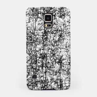 Thumbnail image of psychedelic abstract art texture in black and white Samsung Case, Live Heroes