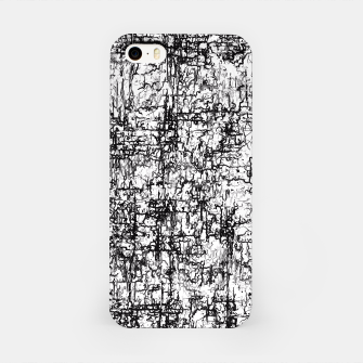 Miniatur psychedelic abstract art texture in black and white iPhone Case, Live Heroes