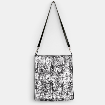 Miniatur psychedelic abstract art texture in black and white Handbag, Live Heroes