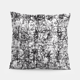 Miniatur psychedelic abstract art texture in black and white Pillow, Live Heroes