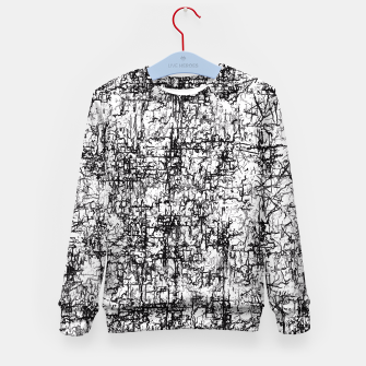 Thumbnail image of psychedelic abstract art texture in black and white Kid's Sweater, Live Heroes