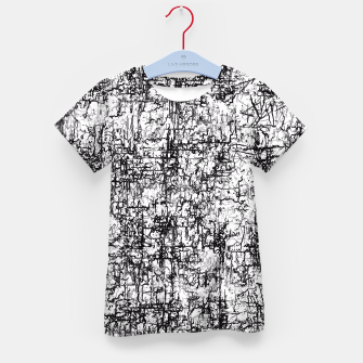 Miniatur psychedelic abstract art texture in black and white Kid's T-shirt, Live Heroes