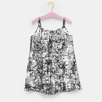 Thumbnail image of psychedelic abstract art texture in black and white Girl's Dress, Live Heroes