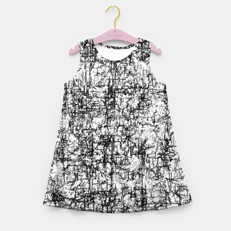 Miniatur psychedelic abstract art texture in black and white Girl's Summer Dress, Live Heroes