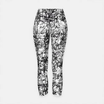 Thumbnail image of psychedelic abstract art texture in black and white Yoga Pants, Live Heroes