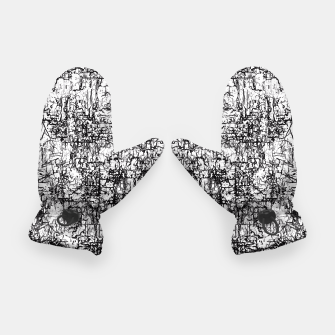 Miniatur psychedelic abstract art texture in black and white Gloves, Live Heroes