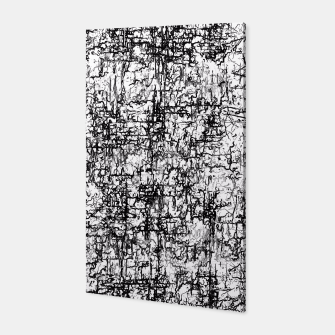 Miniatur psychedelic abstract art texture in black and white Canvas, Live Heroes