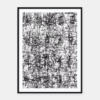 Miniatur psychedelic abstract art texture in black and white Framed poster, Live Heroes