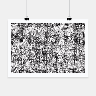 Thumbnail image of psychedelic abstract art texture in black and white Poster, Live Heroes