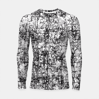 Thumbnail image of psychedelic abstract art texture in black and white Longsleeve Rashguard , Live Heroes