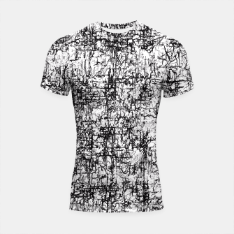 Thumbnail image of psychedelic abstract art texture in black and white Shortsleeve Rashguard, Live Heroes