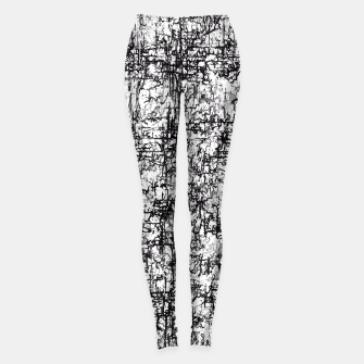 Thumbnail image of psychedelic abstract art texture in black and white Leggings, Live Heroes