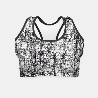 Thumbnail image of psychedelic abstract art texture in black and white Crop Top, Live Heroes