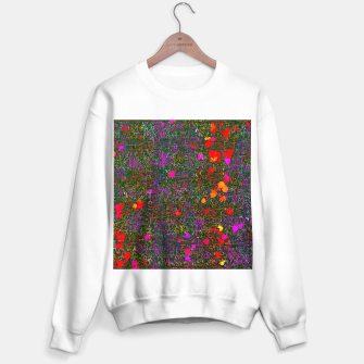 Miniatur psychedelic abstract art texture background in purple red orange pink Sweater regular, Live Heroes