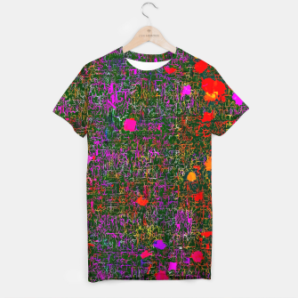 Miniatur psychedelic abstract art texture background in purple red orange pink T-shirt, Live Heroes
