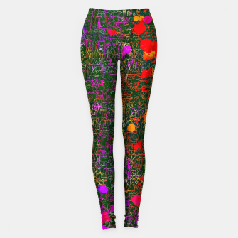 Miniatur psychedelic abstract art texture background in purple red orange pink Leggings, Live Heroes