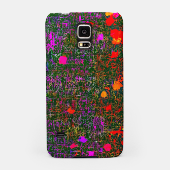 Thumbnail image of psychedelic abstract art texture background in purple red orange pink Samsung Case, Live Heroes
