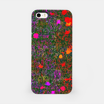 Miniatur psychedelic abstract art texture background in purple red orange pink iPhone Case, Live Heroes