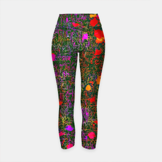 Miniatur psychedelic abstract art texture background in purple red orange pink Yoga Pants, Live Heroes