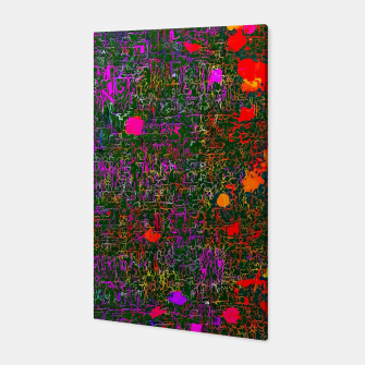 Miniatur psychedelic abstract art texture background in purple red orange pink Canvas, Live Heroes