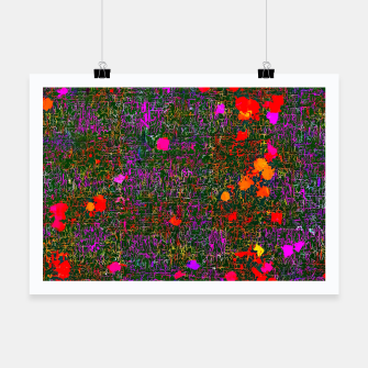 Thumbnail image of psychedelic abstract art texture background in purple red orange pink Poster, Live Heroes