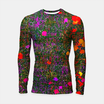 Thumbnail image of psychedelic abstract art texture background in purple red orange pink Longsleeve Rashguard , Live Heroes